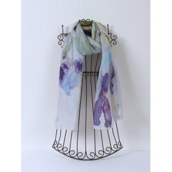 Iris Scarf, medium pure silk